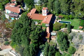 Madonna's House from the air in Hollywood