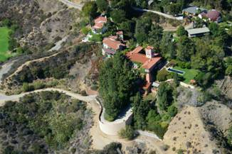 Madonna's Hollywod House on the edge of the Canyon