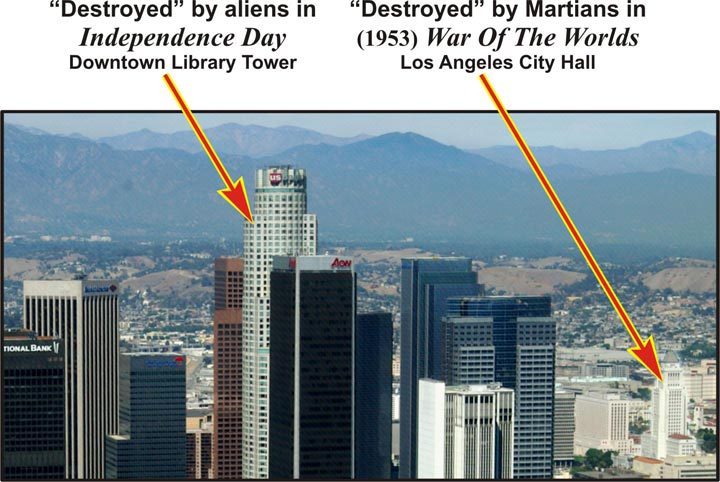 Downtown L.A. destroyed by Aliens