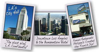 L.A. City Hall, Downtown, & Great Restaurants like Philippe's Original French Dip Sandwiches